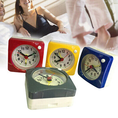 Square Desk Clock No Ticking Bedside Table Silent Sweep Alarm Clock With Snooze