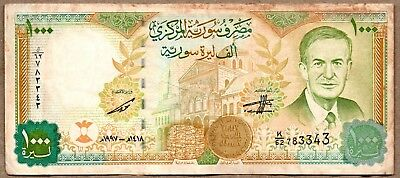 Syria VF Note 1000 Pounds 1997 P-111