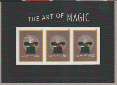 Us Rabbit A Hat 2018 Scott #5306 The Art Of Magic 3 Mvf Forever Stamp Mini Sheet