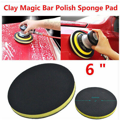"6 "" Clay Bar Polish Disc Pad Auto Car Care Wash Detailing Commercial Grade Tools"