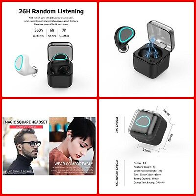 Wireless Bluetooth Headphones 8hr Mini Bluetooth Earbuds Small True Wireless NEW