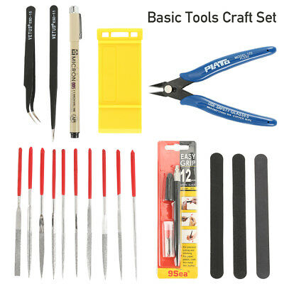 19X. Gundam Modeler DIY Basic Tools Craft Set Car Model Building Repair Fix Kit