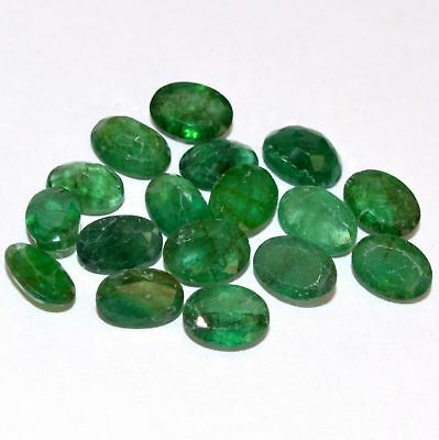 Natural Emerald Oval Cut 7x5 mm Lot 17 Pcs 11.52 Cts Certified Loose Gemstones
