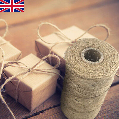 1m-1000m Roll Natural Brown Soft Jute Rope Twine Sisal String Rustic Shabby Cord