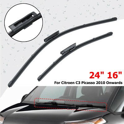 Front Window Windscreen Wiper Blades 24'' 16'' Fit Citroen C3 Picasso 2010-2016