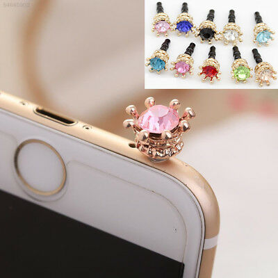 6962 New Gold Crown Diamond Mobile Phone Dust Plug Sweet Girls Fashion Accessory