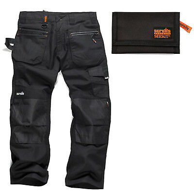 Scruffs Ripstop Multi-Pocket Work Trousers Black with Knee Pads /& Belt Options