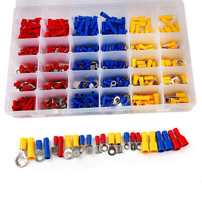 480pcs Assorted Insulated Electrical Car Audio Wiring Connectors Crimp Terminals