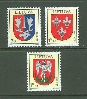 Lithuania F66 MNH 2008 3v Coat of Arms