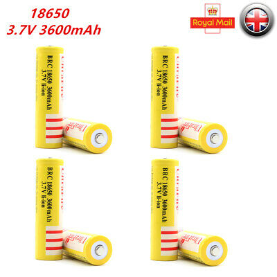 18650 3600mAh 3.7V Rechargeable Li-ion Lithium Battery Cell for Torch Flashlight