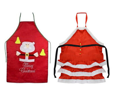 Christmas Chef's Apron Festive XMAS Cooking Holiday BBQ Party Home Gift [Colour: