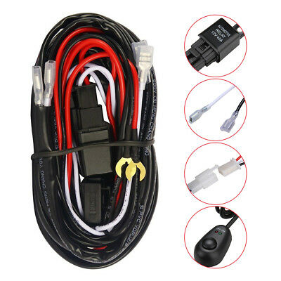 2m 12V 40A Relay Switch Control Wiring Harness For LED Work Driving Light Bar