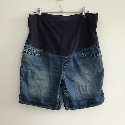 Target Collection Women's Maternity Shorts Size 8 Over Belly Band Blue Denim