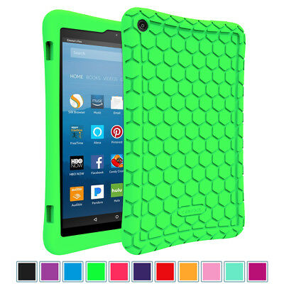 For New Amazon Fire HD 8 8th Gen 2018 / 7th Gen 2017 Tablet Silicone Case Cover