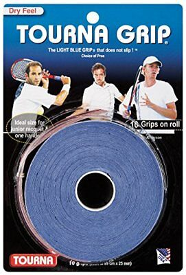 Tourna Tennis Racquet Over Grip /Overgrips Absorbent Dry Feel Tournagrip Blue