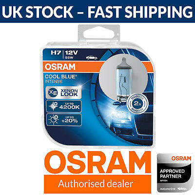 OSRAM Cool Blue Intense H7 Styling Headlight Bulbs 4200K (Twin) 64210CBI-HCB
