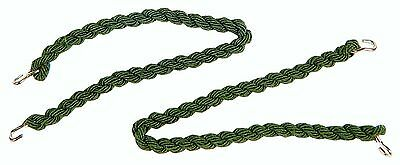 5 Pairs Army Style Green Elasticated Trouser Twists Twisters Bungee Leg Ties