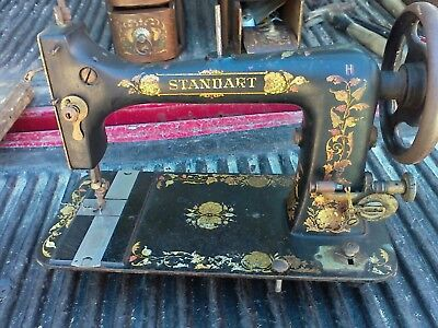 antique standart not singer treadle sewing machine Head Only RARE Graphics