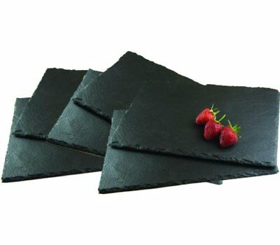 B-WARE: 2 Stück Rectangle Natural Slate Placemats Cheeseboard Dinner Table Place