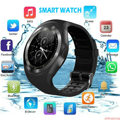 Y1 Waterproof Bluetooth Smart Watch SMS Phone Mate Fr Samsung LG Android IOS LOT