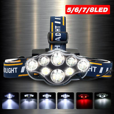 90000LM XML T6 LED Headlamp Rechargeable Head Light Flashlight Lamp CA POST 2018