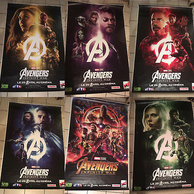 Avengers Infinity War Set of 6 Movie Poster Marvel 4x6 Extremly rare Bus Shelter