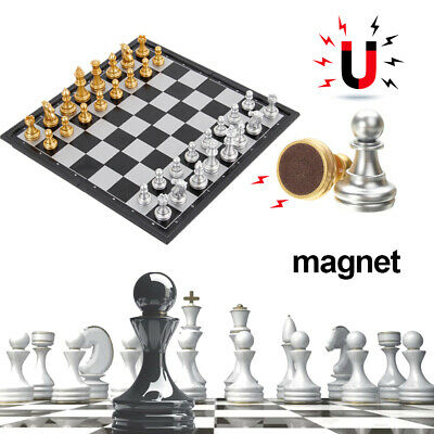 Large Chess Wooden Set Folding Chessboard Pieces Wood Board 30*30cm Box Portable