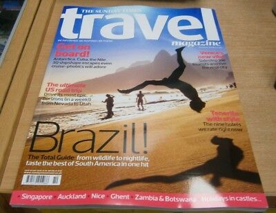 The Sunday Times Travel magazine Oct 2018 Brazil Venice Tenerife + US Road trip
