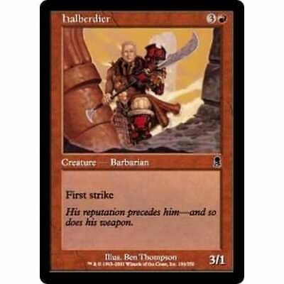 MTG ODYSSEY * Halberdier (foil) - Condition: Mint / Near Mint