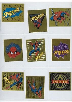 SPIDER-MAN stickers Insert Foil Stickers (1995 Panini) $2.00 each.