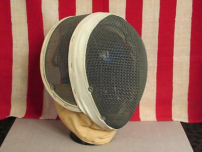 Vintage Santelli NYC Blade Fencing Helmet Mask Wire Mesh Face Guard Great Shape
