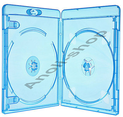 6 Amaray Blu Ray Hüllen 11 mm für 2 Bluray,DVD,CD Disc Leer Hülle Box