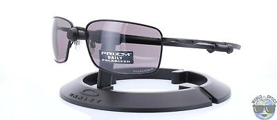 2210453876 Oakley Square Wire Sunglasses OO4075-09 Matte Black w  Prizm Daily Polarized