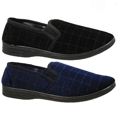 New Mens Comfort Flat Warm Casual Slippers Shoes Slip On Driving Walking Winter
