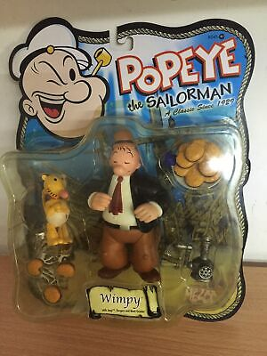"Mezco Popeye Series 2 WIMPY & EUGENE 5"" Action Figure MOC, 2001"