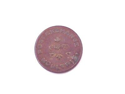 "RARE! Fort Moultrie S. Carolina 10 Cent Post Exchange ""Good For in Trade"" Token"