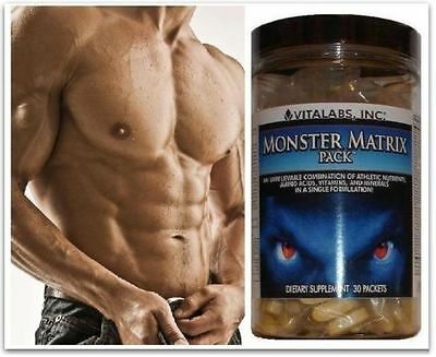 3x  Lean Muscle Matrix X Ripped Stack Pills Bodybuilding Growth  6 Six Pack Abs