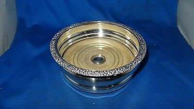 Lovely Antique Sheffield Plate Wine Coaster C.1820 George 4Th Original Condition