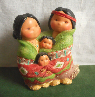 Vintage Enesco Friends of the Feather People of One Feather 1994 Karen Hahn