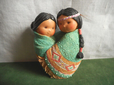 Vintage Enesco Friends of the Feather Love for Many Moons 1994 Karen Hahn Resin