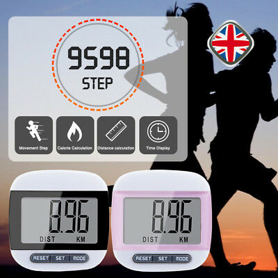 """1.7"""" LCD Pedometer Step Walking Jogging Hiking Calorie Counter Distance Fitness"""