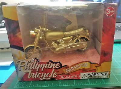 Philippine Tricycle Gold Edition Die-cast Metal Souvenirs