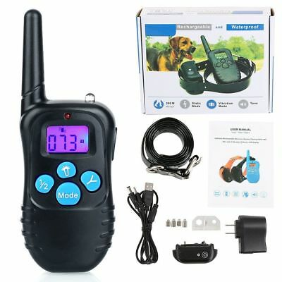 330 Yards Waterproof Dog Training Collar with Vibration Shock Electric E-Collar