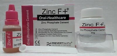 Dental Zinc Phosphate Cement Zinc F+ Powder Liquid Kit Pack Free Shipping