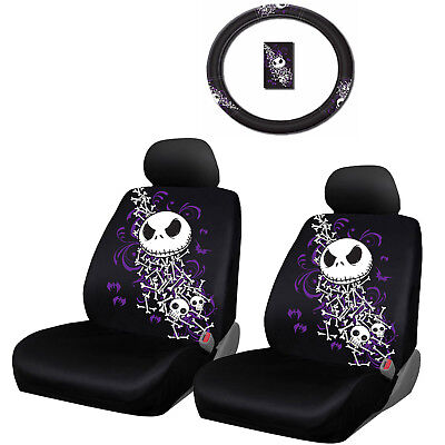 nightmare before christmas bones combo w steering wheel cover seat covers - Nightmare Before Christmas Steering Wheel Cover