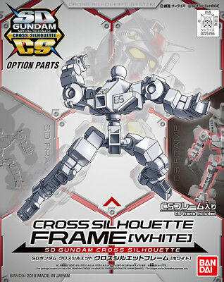 SD Gundam Cross Silhouette Frame White GUNPLA Option Parts BANDAI