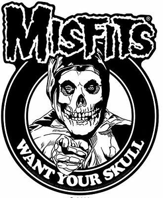 Misfits Want Your Skull STICKER - Decal Music Band Album Art SE106