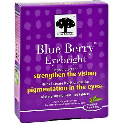 New Nordic Blue Berry Eyebright Dietary Supplement Tablets, 60 count