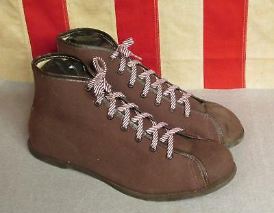 Vintage 1930s Webster Rubber Co. Canvas Basketball Sneakers Military 8.5 Werco