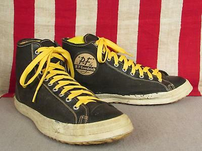 Vintage 50s PF Flyers Canvas Basketball Sneakers BF Goodrich Athletic Shoes 8.5